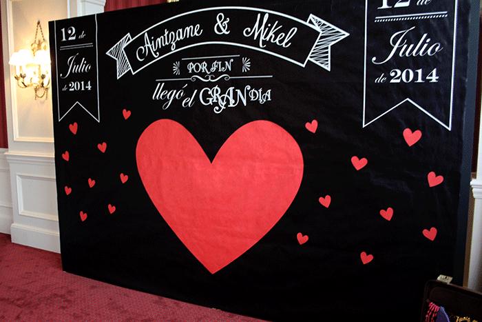 Photocall for weddings for Decoracion de photocall